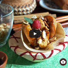 Torrejas de pinole, cacahuate y nuez