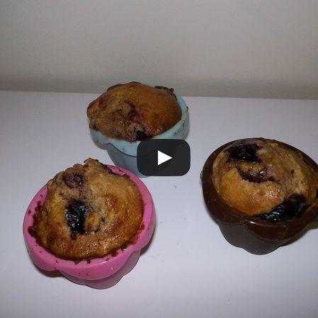 Muffins de blueberry o frutos rojos