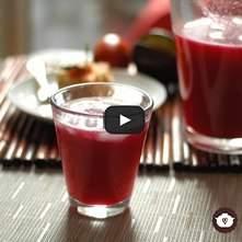Agua de manzana con betabel