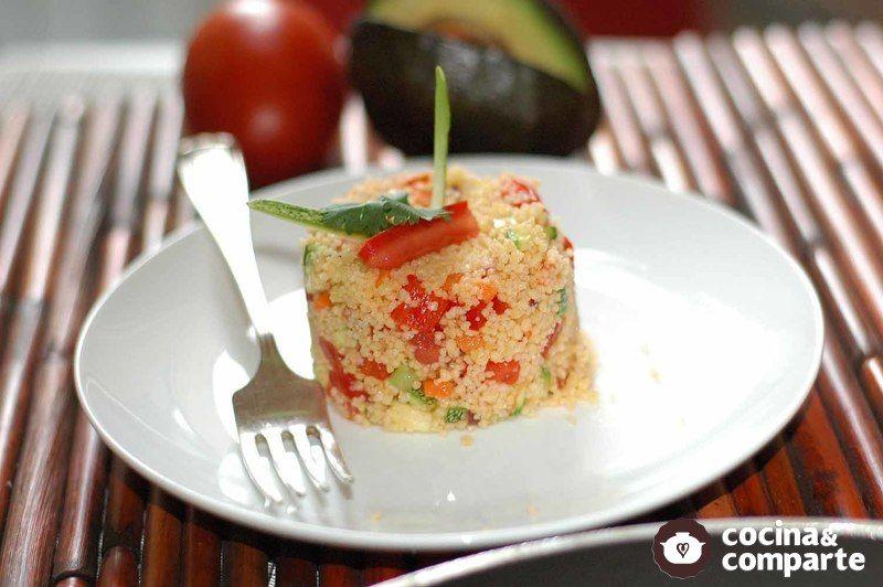Molde de cous cous con verduras