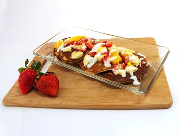 Hotcakes frutales para mascotas