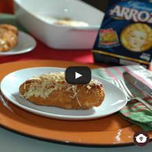 Pechuga de pollo a la napolitana