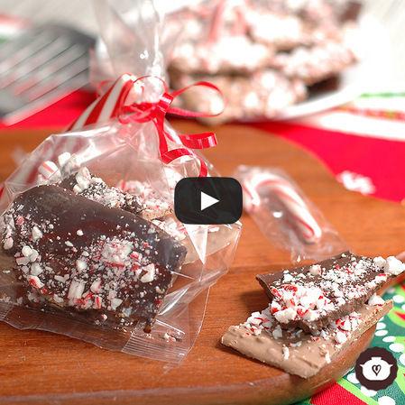 Lajas de chocolate con menta