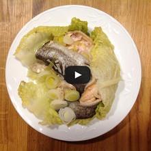Trucha al vapor con verduras y cointreau
