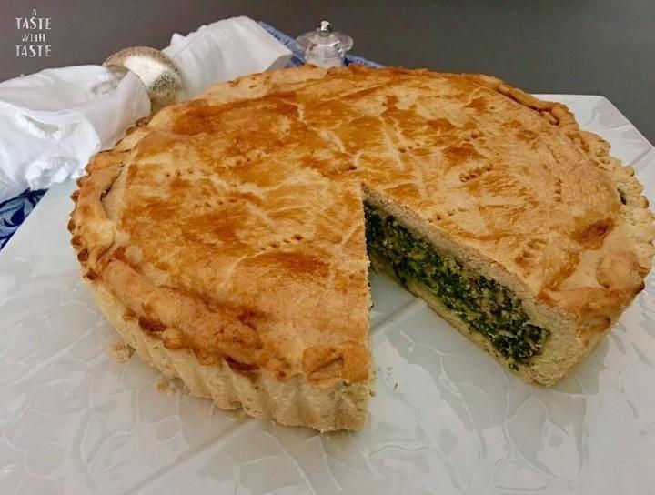 Tarta de espinacas y ricotta