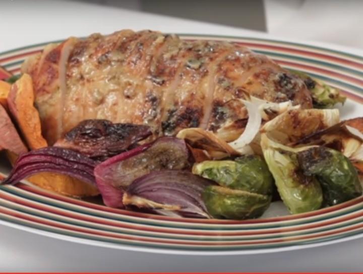 Pavo al horno con verduras