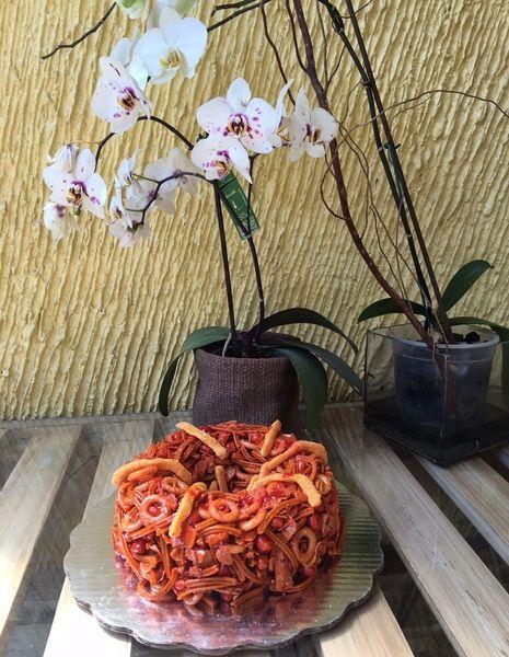 Rosca de Frituras con Chamoy