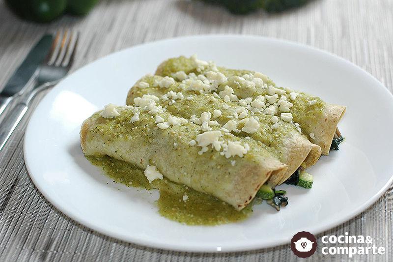 Enchiladas vegetarianas