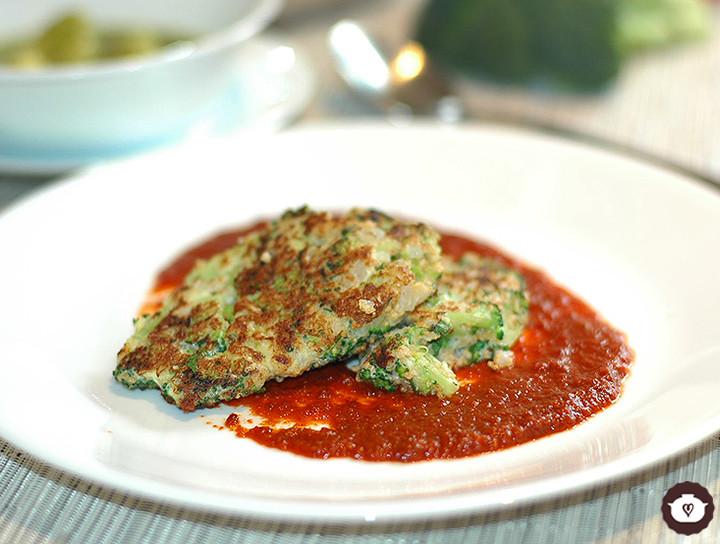 Tortitas de brócoli con amaranto