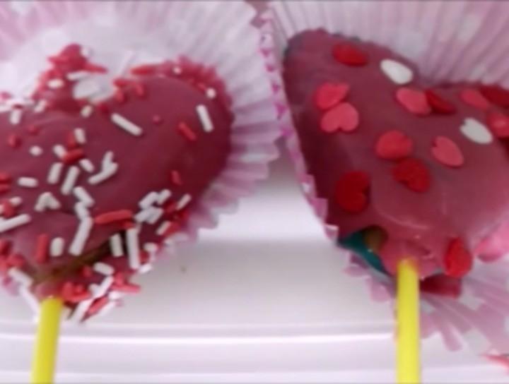 Cake pops de Amor sin horno