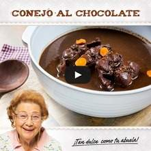 Conejo al chocolate