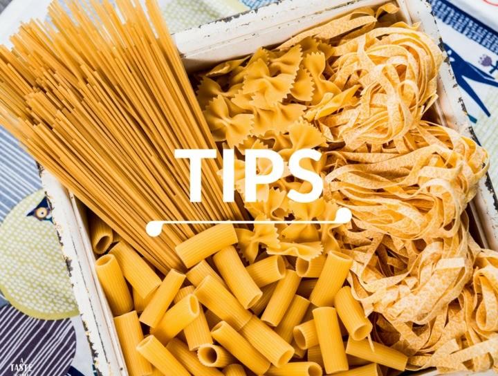 Tips para cocción de la pasta