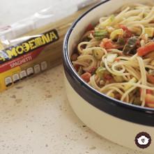 Spaghetti con vegetales