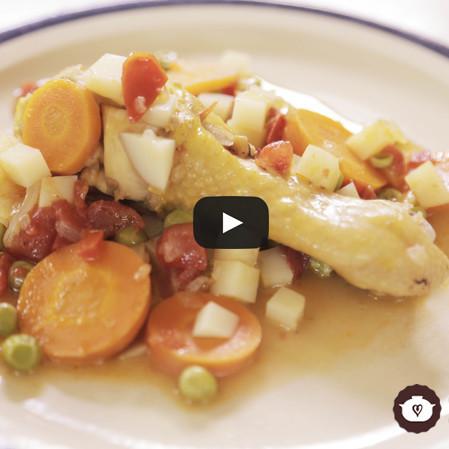 Estofado de pollo con verduras
