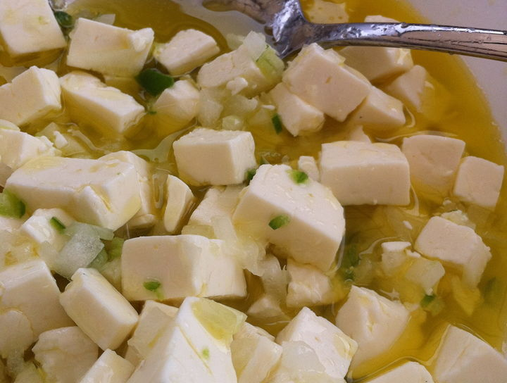 Cebiche de queso panela
