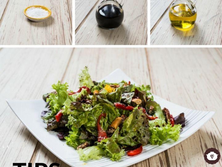 Tips de cocina ¿Cuál es la forma de aderezar tu ensalada?