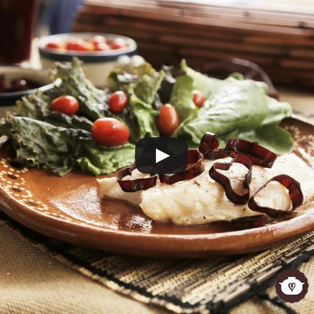 Filete de huachinango al ajillo