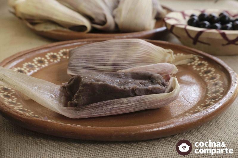 Tamales de capulín