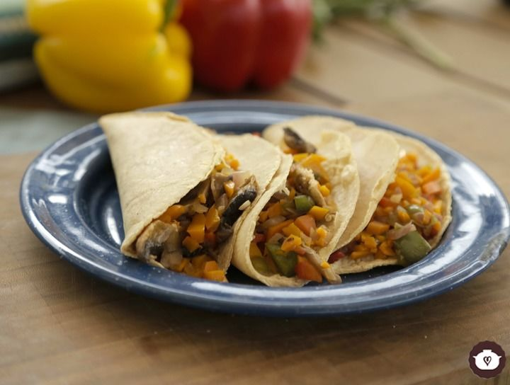 Tacos de alambre vegetariano