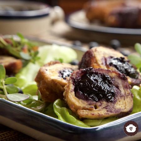Pechuga de pollo cordon blue con blueberry