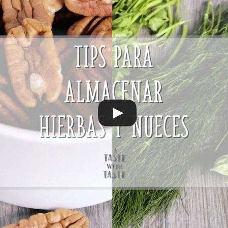Tips de cocina - Cómo almacenar nueces y hierbas aromáticas