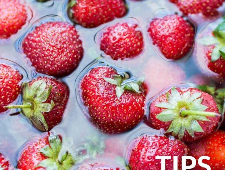 Tips de cocina.- Cómo desinfectar las fresas
