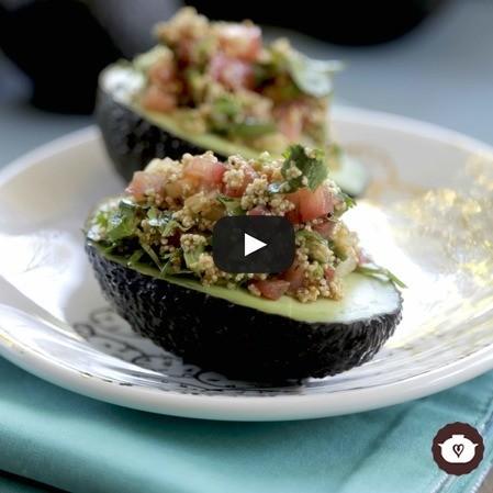 Aguacates vegetarianos a la mexicana