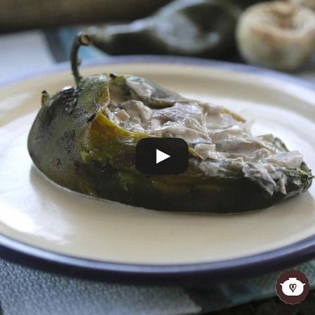 Chiles rellenos vegetarianos