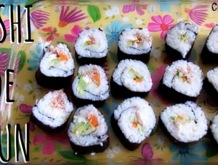 Sushi de atún fácil y económico
