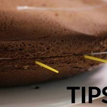 Tips de cocina.- Cómo cortar capas de pastel a la mitad