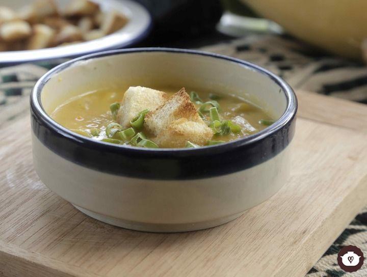 Sopa de calabaza con camote