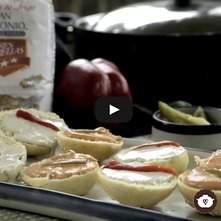 Marinitas para fiestas con pan brioche hecho en casa