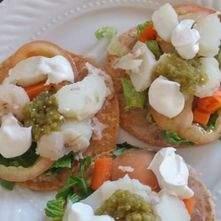 Tostadas de verduras
