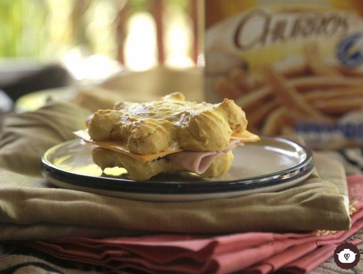 Tortuguitas de jamón y queso