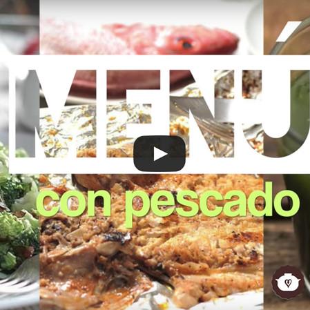Menú sencillo con pescado