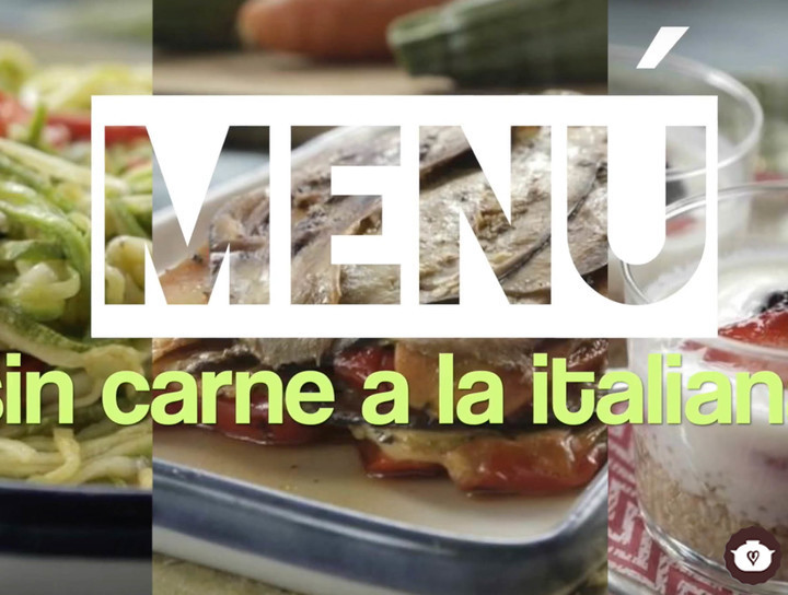 Menú italiano sin carne