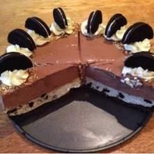 Cheesecake de oreo y nutella sin horno
