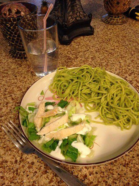 Espagueti verde al poblano