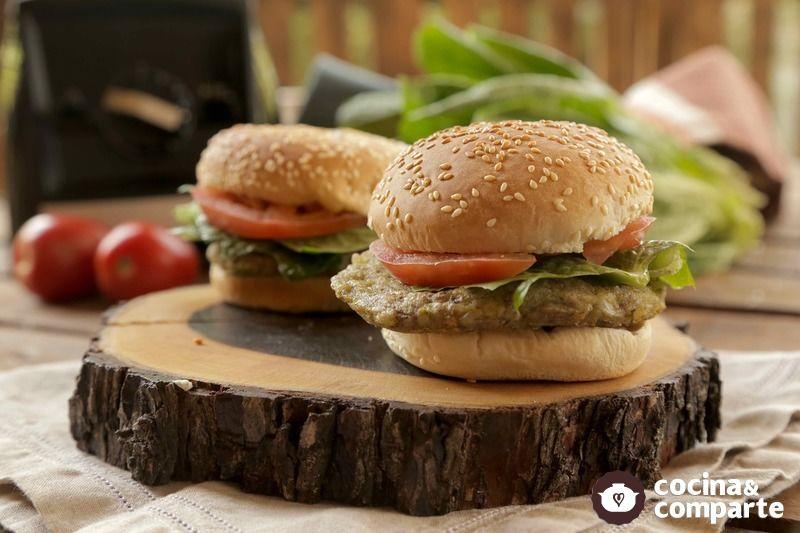 Hamburguesa vegana de calabacitas