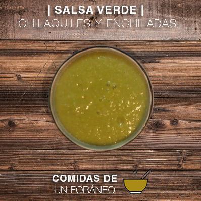 Salsa Verde para Chilaquiles o Enchiladas