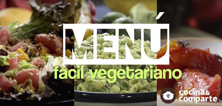 Menú fácil vegetariano