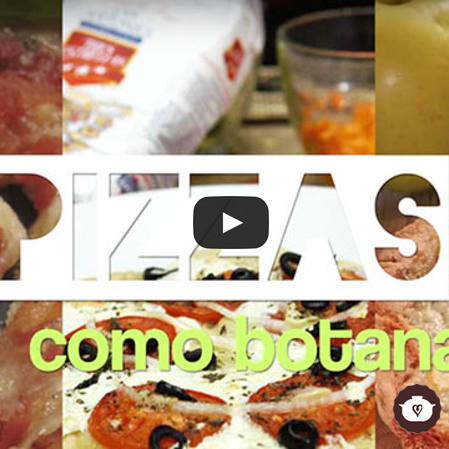 Pizzas como botana