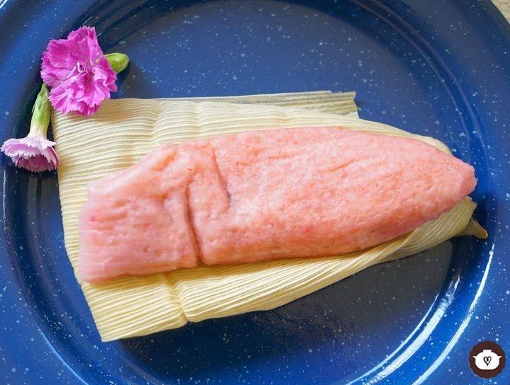 Tamales de fresa con nutella