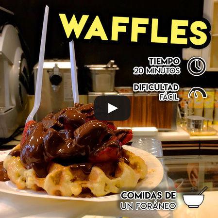 Waffles: Receta Masa