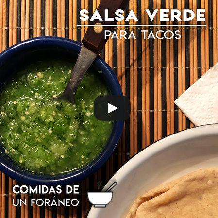 Salsa Verde Cruda | Para Taquizas