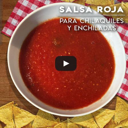 Salsa Roja para chilaquiles o enchiladas | Picosa