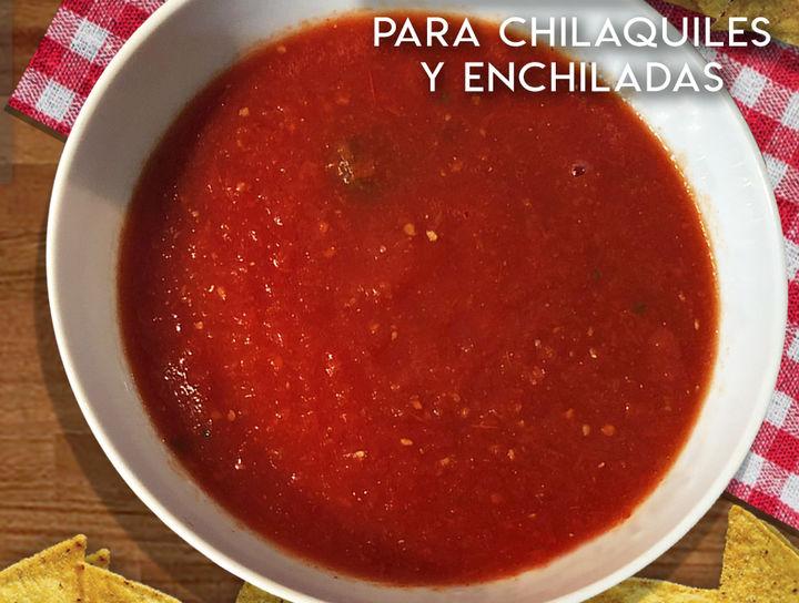 Salsa Roja para chilaquiles o enchiladas   Picosa