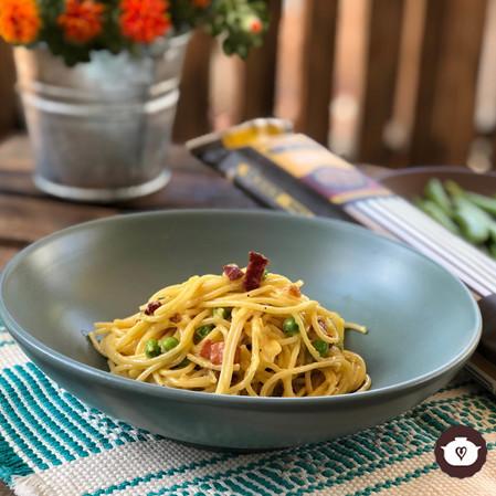 Spaghetti carbonara a la crema
