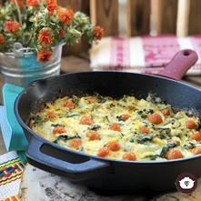 Frittata o tortilla de verduras