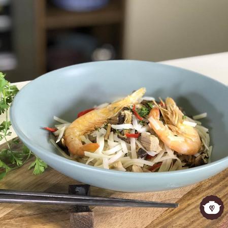 Ensalada de fideo tailandesa